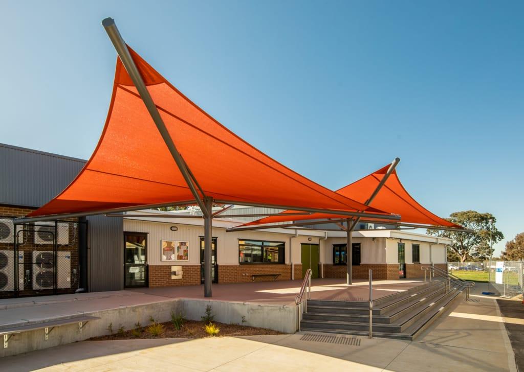 Kids school shade sails